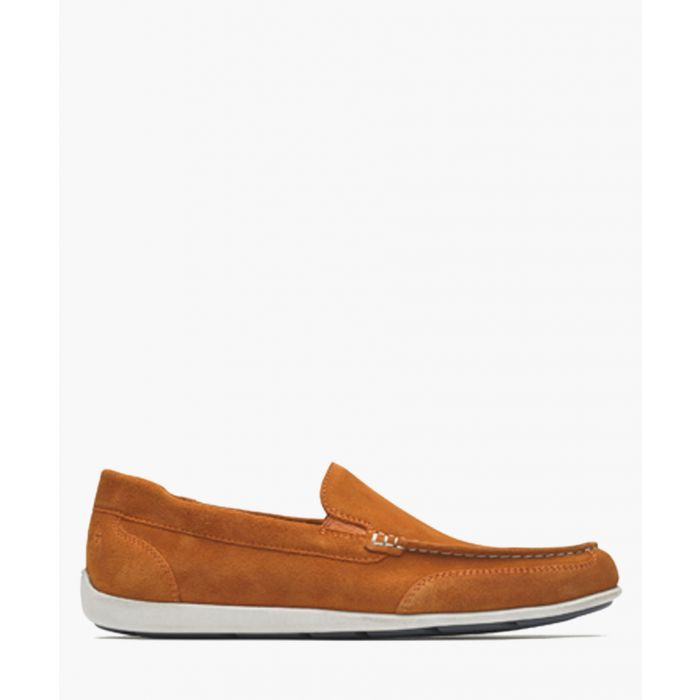 Image for Venetian burnt orange suede loafers