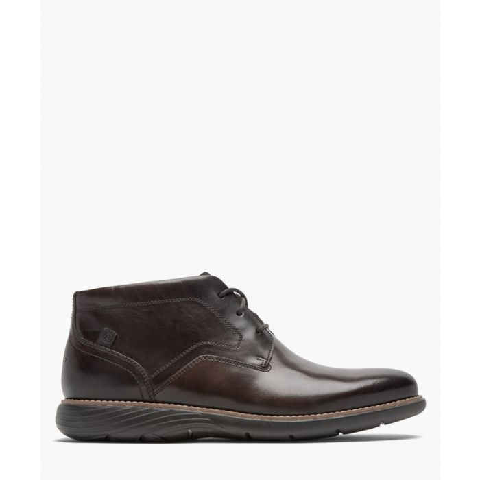Image for Garett dark bronw leather boots