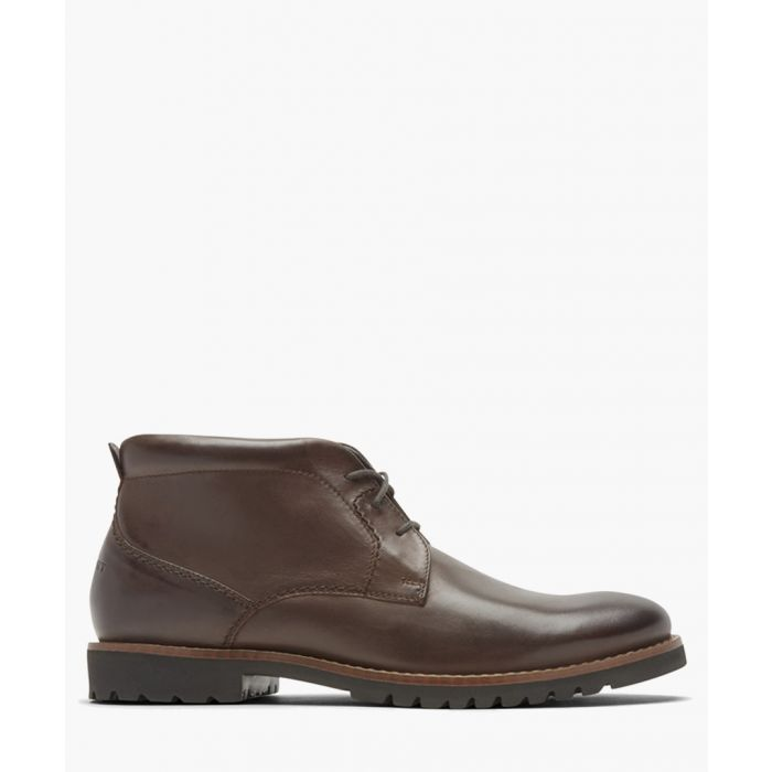 Image for Marshall brown leather Chukka boots