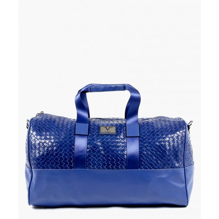 Image for Blue woven holdall bag