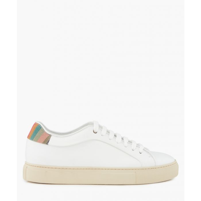 Image for White leather rabbit printed sneakers