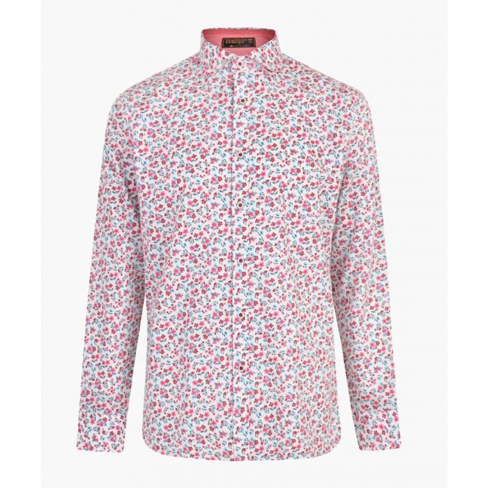 Image for White pure cotton printed shirt