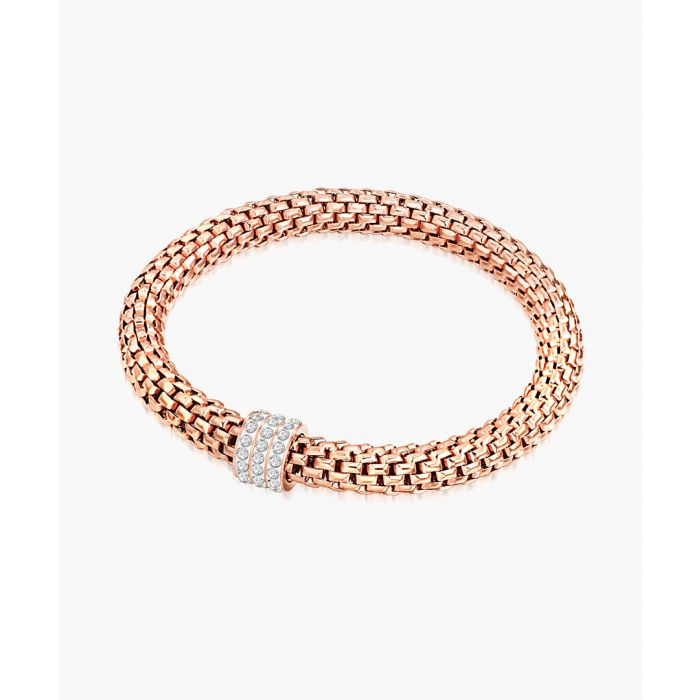 Image for Rose gold-plated glass beads bracelet