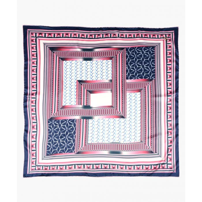 Image for Multi-coloured printed scarf 90cm