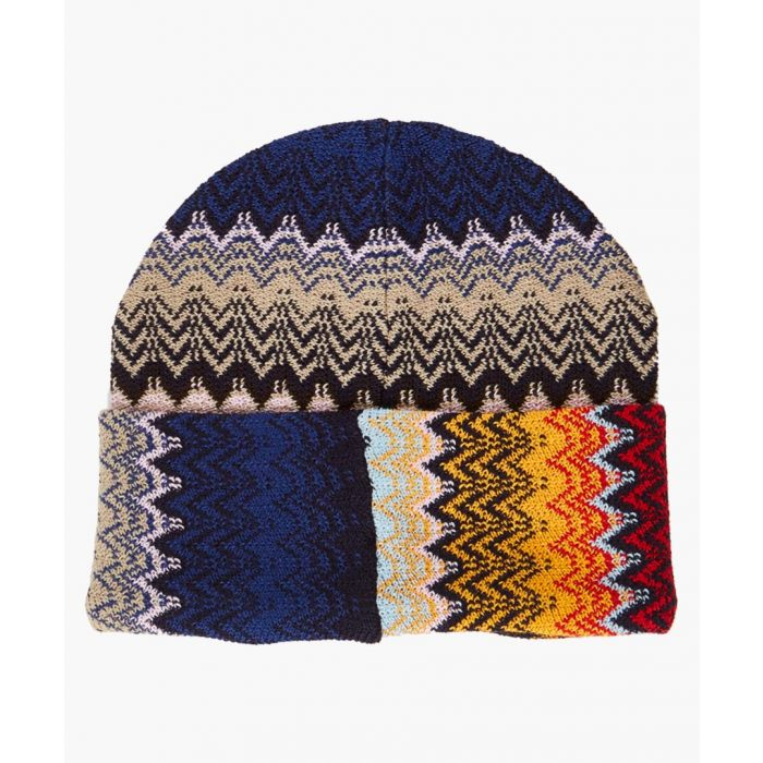 Image for Multi-coloured patterned hat