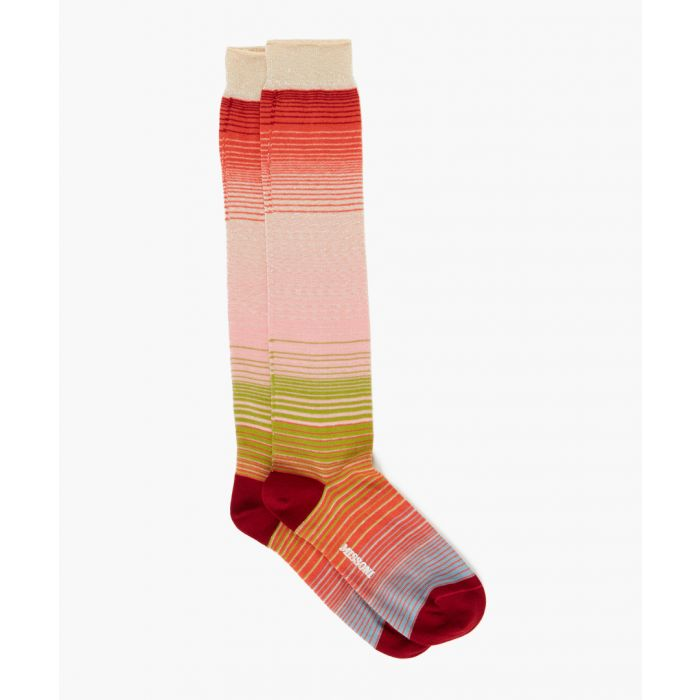 Image for Multi-coloured cotton patterned socks
