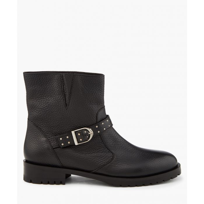 Image for Black pull-on biker boots
