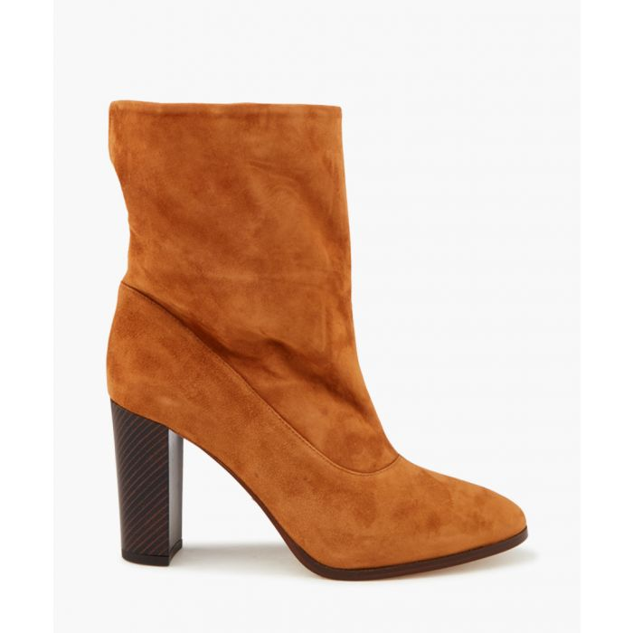 Image for Shore tan suede heeled boots