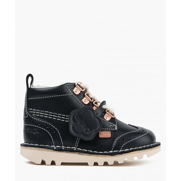 Image for Kick Fur navy leather ankle boots Footwear/Boots/Ankle Boots navy