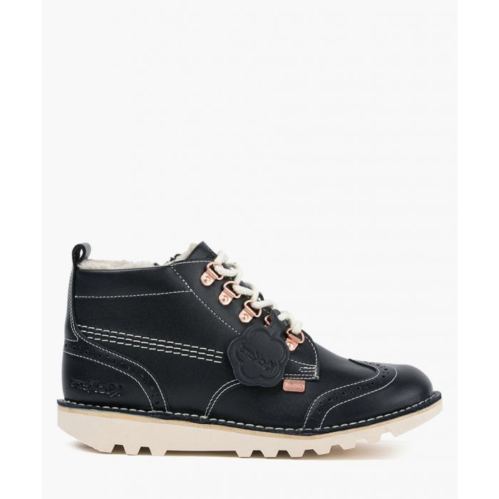 Image for Kick Fur navy leather boots Footwear/Boots/Ankle Boots navy