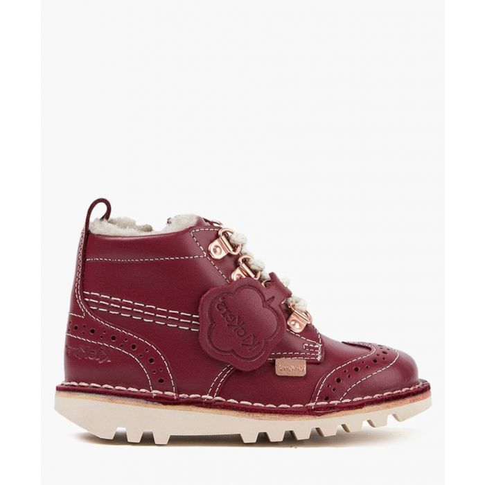 Image for Kick Fur red leather boots Footwear/Boots/Ankle Boots red