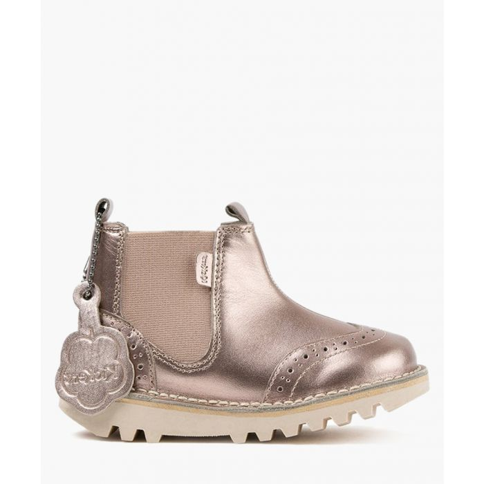 Image for Kick gold-tone leather brogue boots Footwear/Boots/Ankle Boots gold