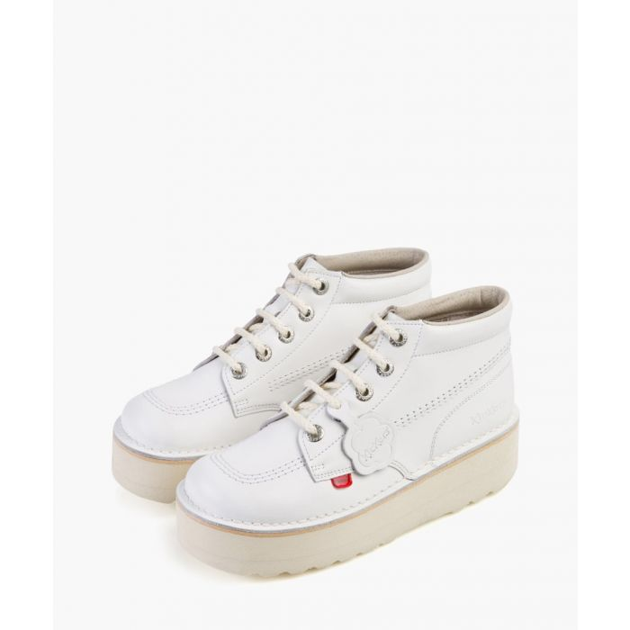 Image for Kickers Kick Hi white leather boots Footwear/Boots/Ankle Boots white