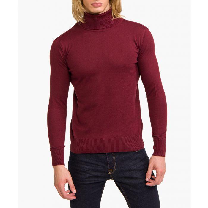 Image for Bordeaux cotton blend high-neck jumper