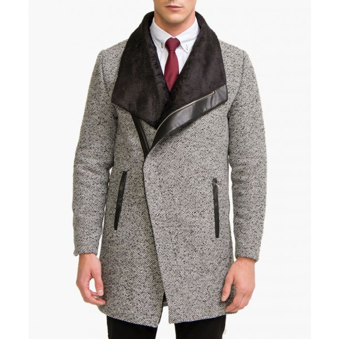 Image for Grey wool blend jacket