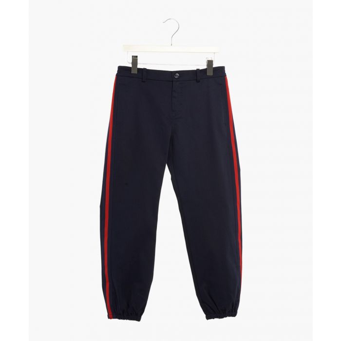 Image for Girls blue cotton joggers