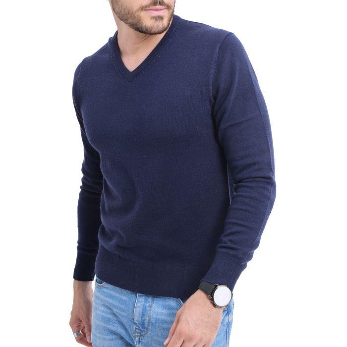 Image for Blue night cashmere blend jumper