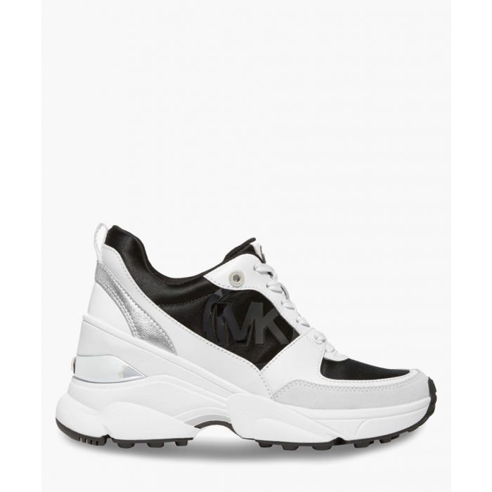 Image for Black & white leather sneakers