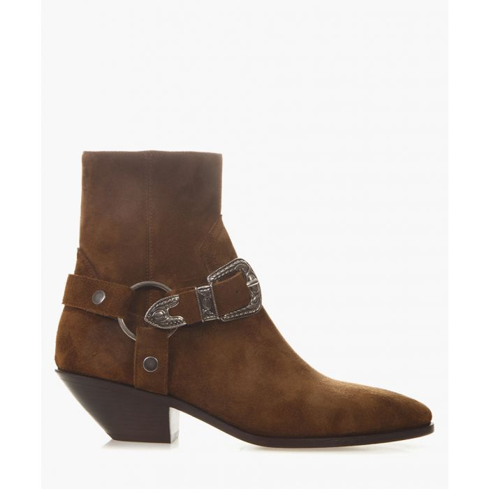 Image for West Harness brown suede boots
