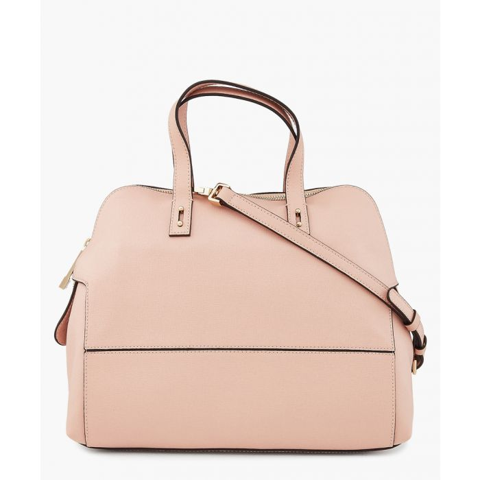 Image for Ines pink leather detachable strap bag