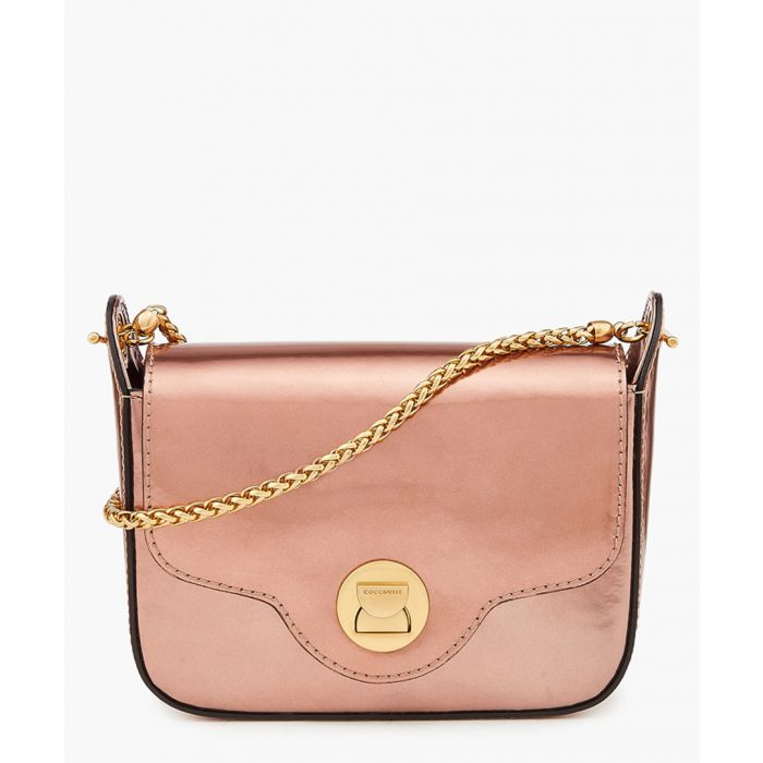 Image for Pink metallic leather chain mini bag