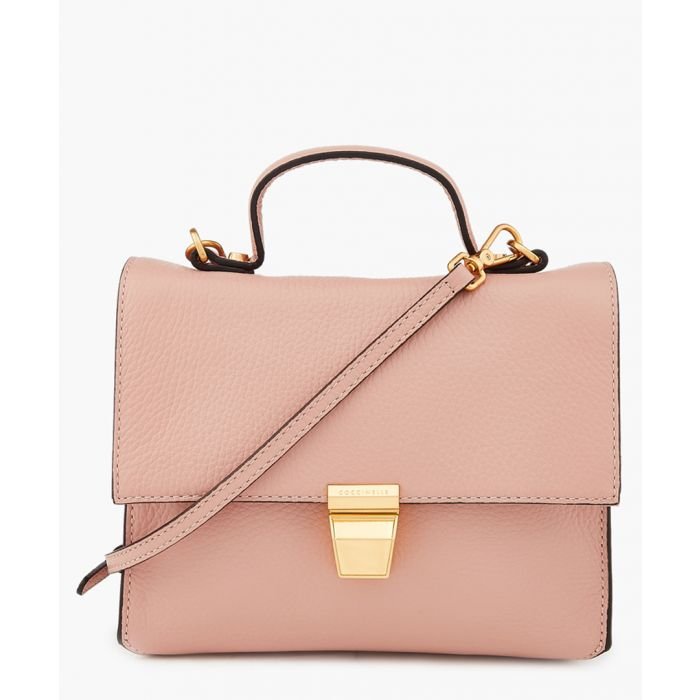 Image for Pivoine leather and cotton mini bag