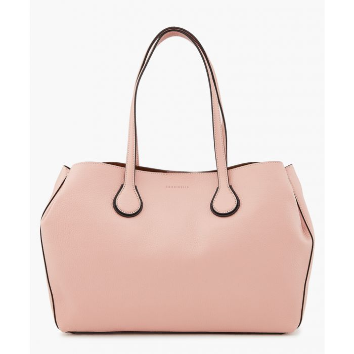 Image for Rachel pink leather top handle bag
