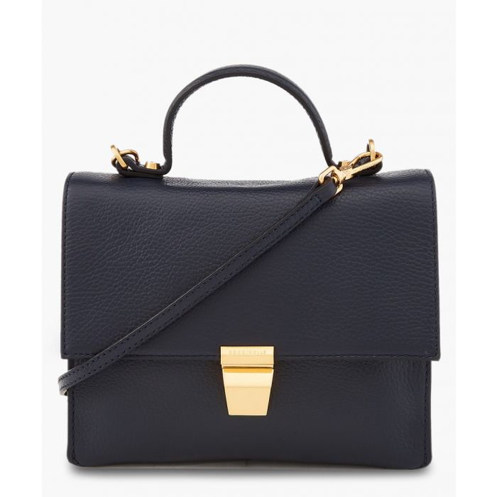 Image for Frances navy blue leather bag