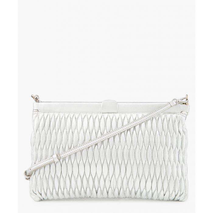 Image for Matelasse silver-tone textured leather  bag