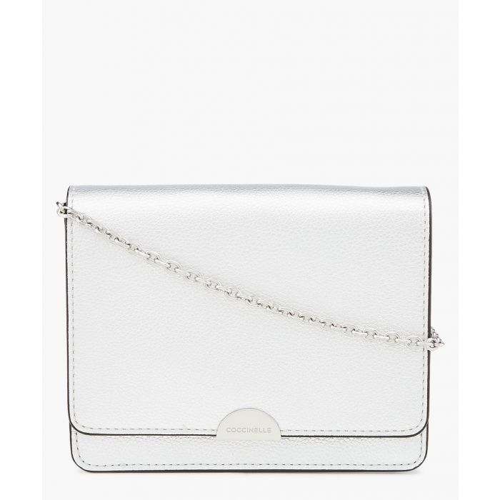 Image for Silver-tone leather crossbody