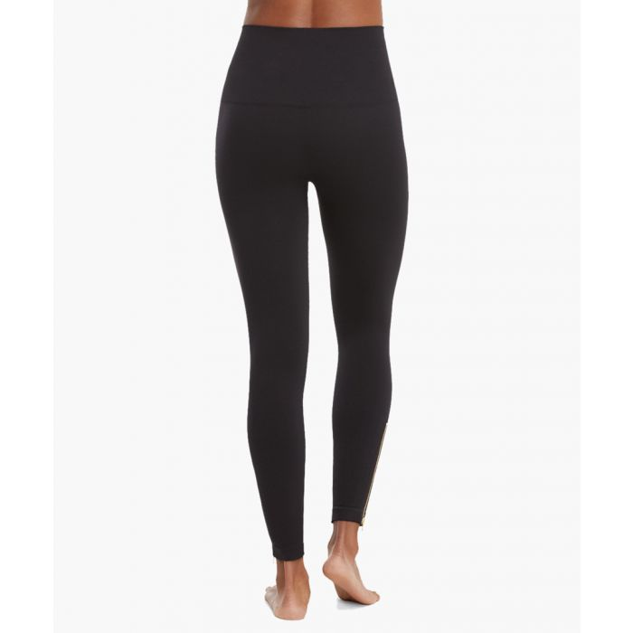 Image for Black seamless side zip leggings
