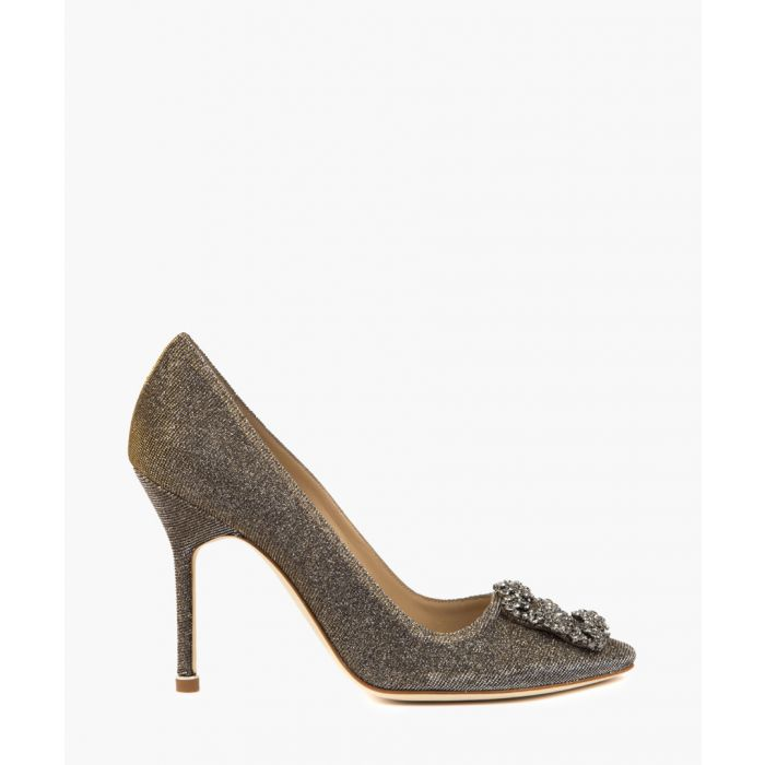 Image for Hangisi gold-tone glittered heels
