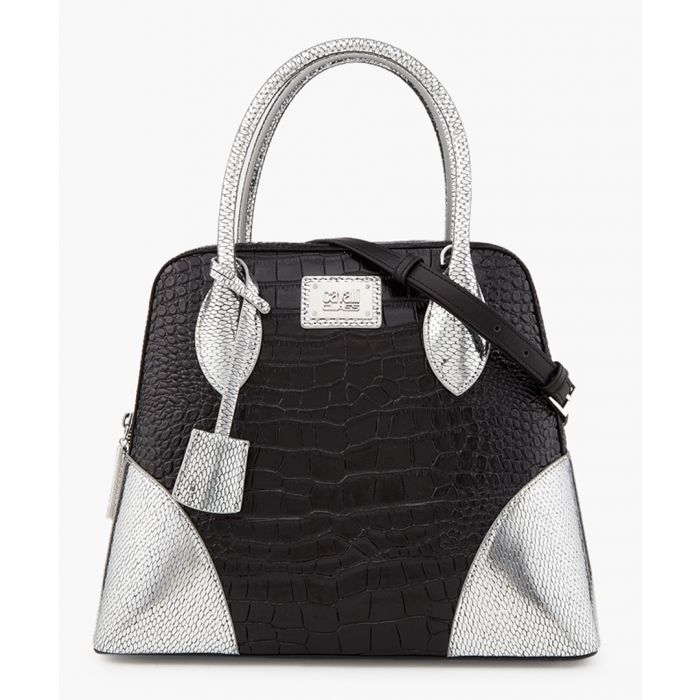 Image for Marion medium black and silver-tone shopper