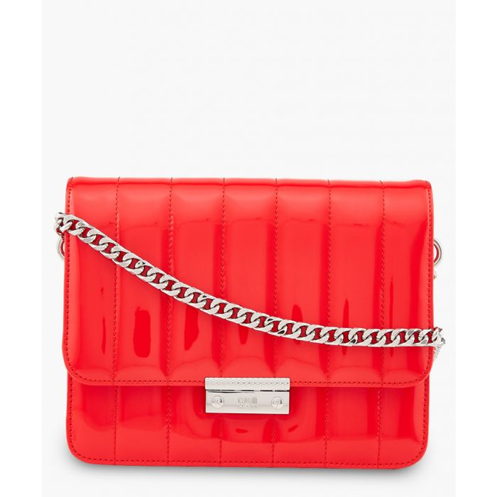 Image for Milano large red leather crossbody