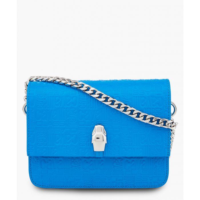 Image for Milano medium blue leather crossbody
