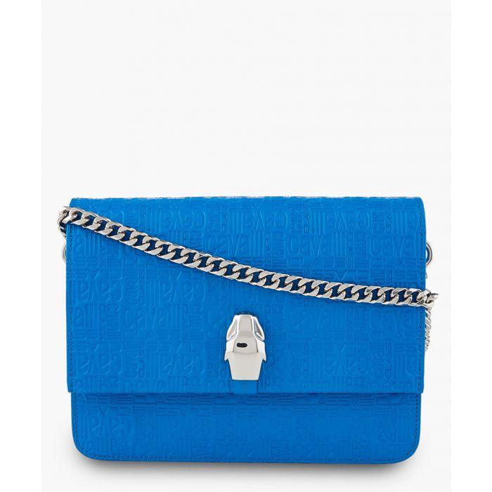Image for Milano large blue leather crossbody