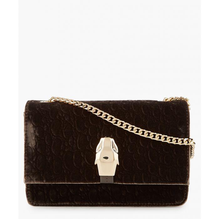 Image for RSVP taupe velvet shoulder bag