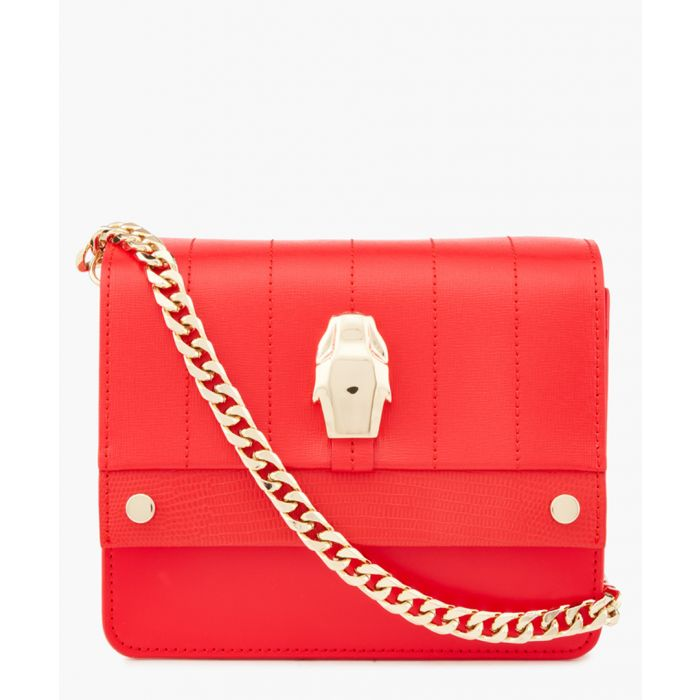 Image for Dauphine red small shoulder bag