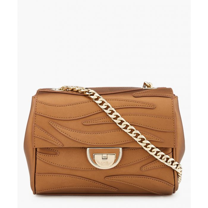 Image for Jeannine small gold-tone leather shoulder bag