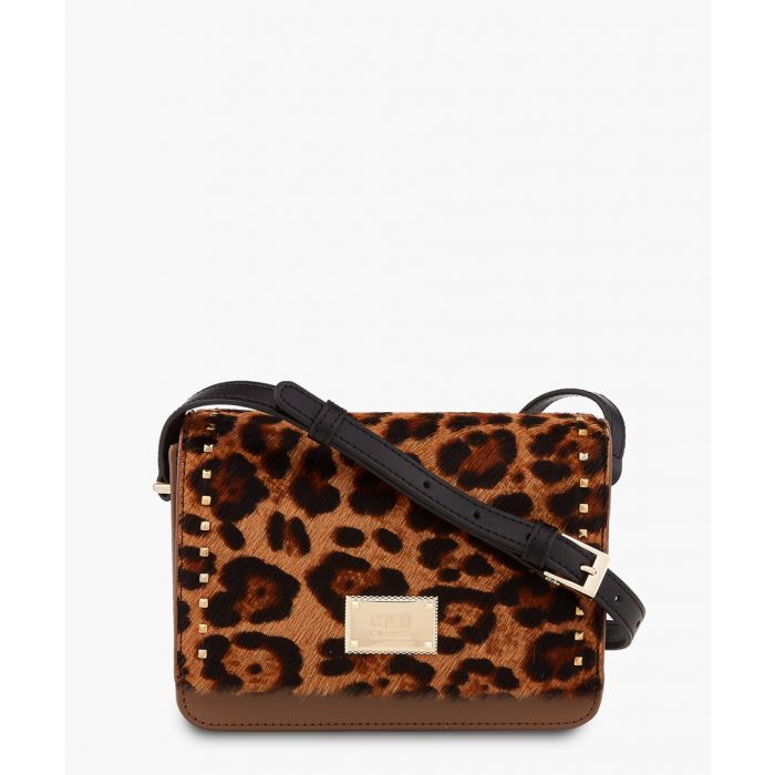 Image for Justine small leopard printed shoulder bag