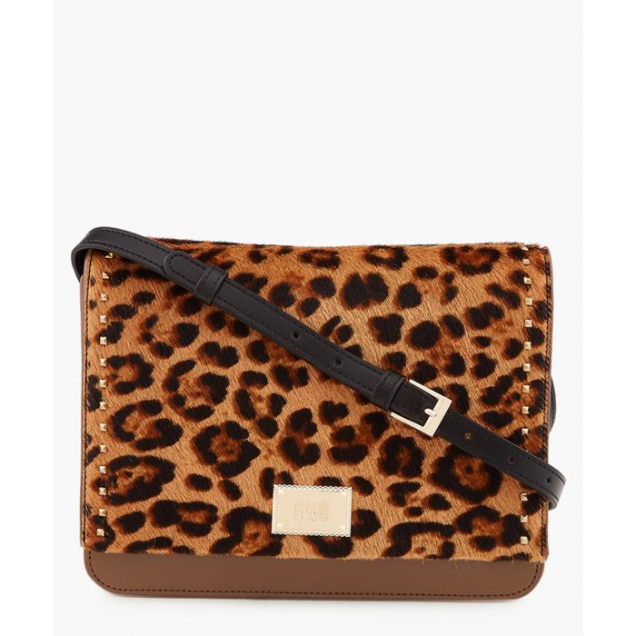 Image for Justine medium leopard printed shoulder bag