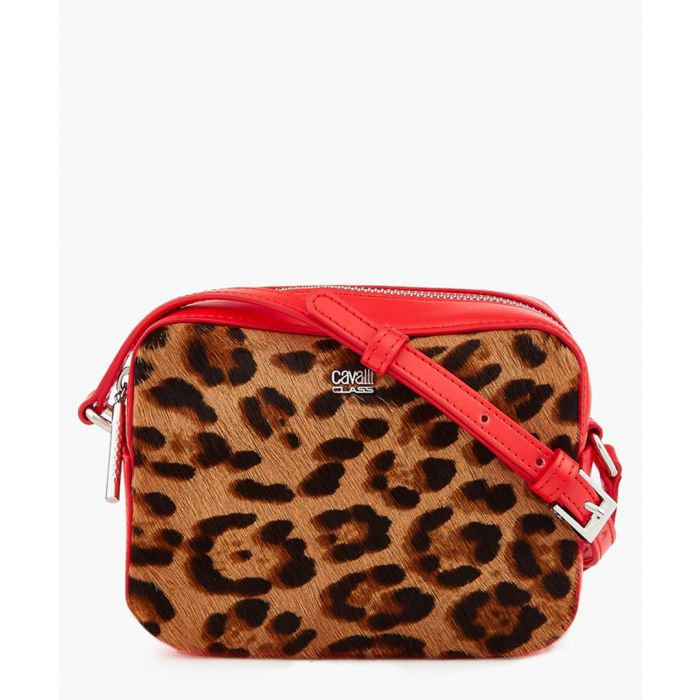 Image for Louise small red trim leopard printed shoulder bag