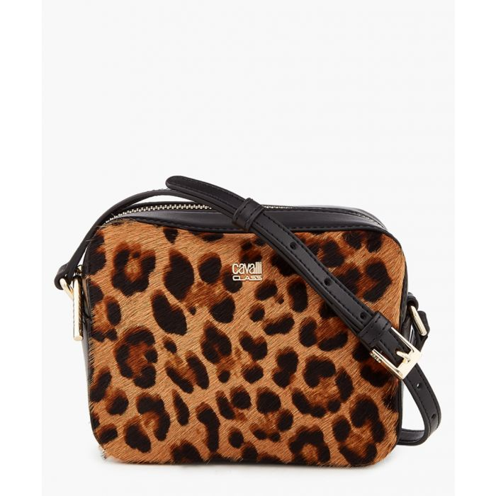 Image for Louise small black trim leopard printed shoulder bag