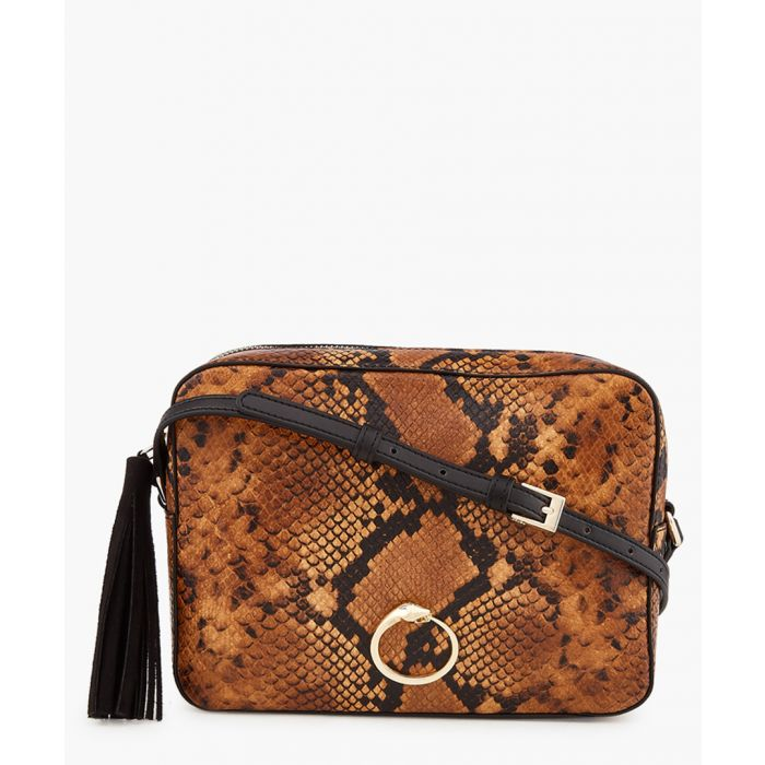 Image for Louise medium snake-effect shoulder bag