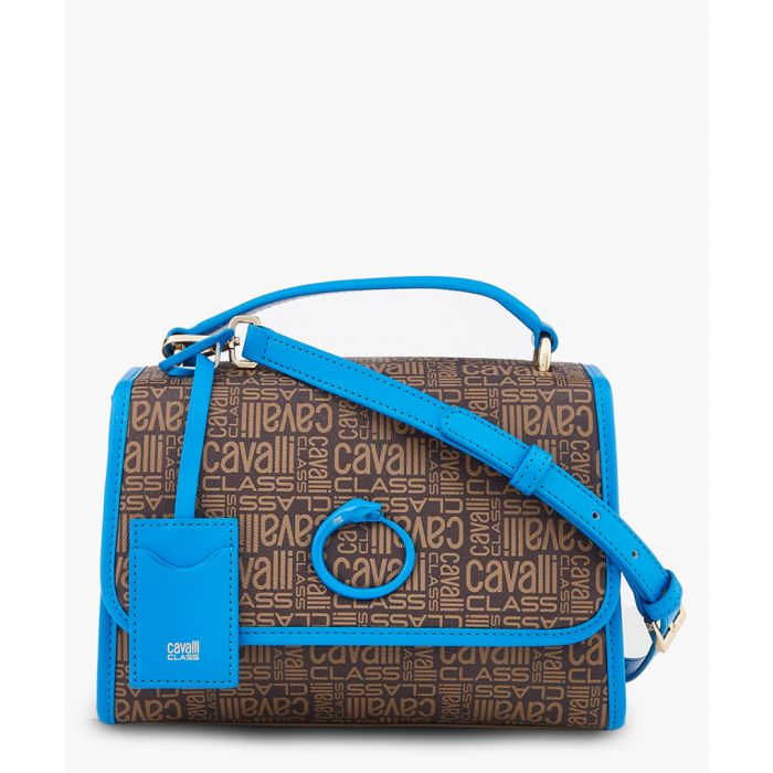 Image for Monogram small brown and blue shoulder bag
