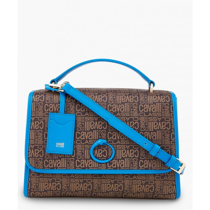 Image for Monogram medium brown and blue shoulder bag