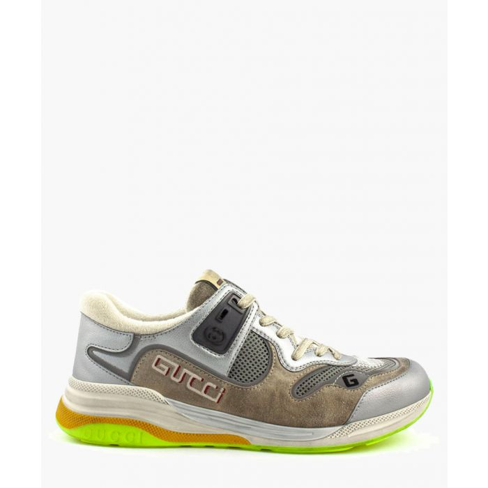 Image for Ultrapace silver-tone trainers