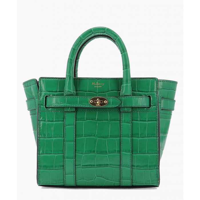 Image for Micro zipped Bayswater green bag