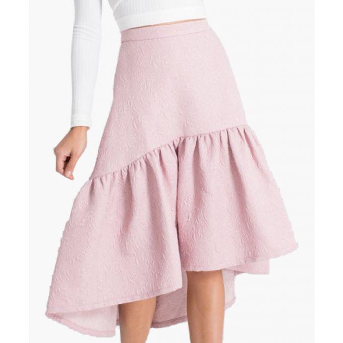 Image for Lyana mink ruffle skirt