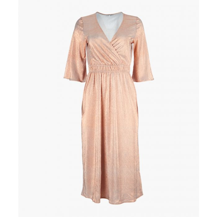 Image for Light pink foil wrap dress